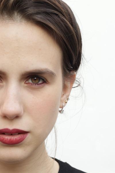 eleonora milano abitino nero rossetto rosso chanel